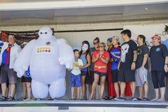 Dragon boat festival at Santa Fe Dam Recreation Area Royalty Free Stock Images
