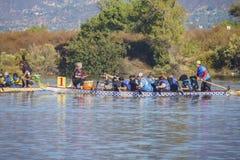 Dragon boat festival at Santa Fe Dam Recreation Area Stock Photos