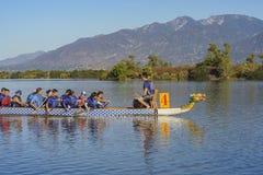 Dragon boat festival at Santa Fe Dam Recreation Area Royalty Free Stock Photos