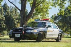 Police car at Santa Fe Dam Recreation Area Royalty Free Stock Photos