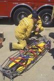 Los Angeles County Rescue crew Stock Photos