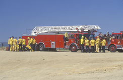 Los Angeles County Rescue crew Royalty Free Stock Photos