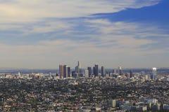 Los Angeles da baixa, opinião de olho de pássaro Fotos de Stock Royalty Free