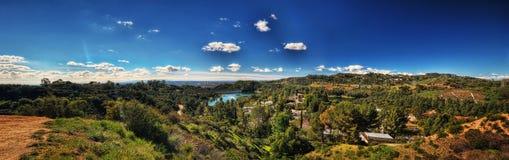 Los Angeles dalla collina di Hollywood fotografia stock libera da diritti