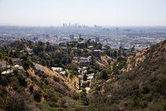 Los Angeles dat van berg wordt bekeken stock foto's