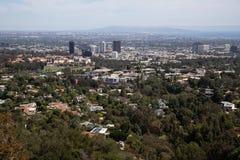 Los Angeles dat van berg wordt bekeken royalty-vrije stock fotografie