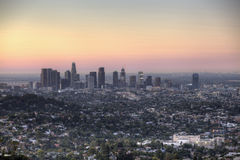 Los Angeles Dawn from Griffith Park Royalty Free Stock Photo