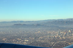 Los Angeles de l'air Photos libres de droits