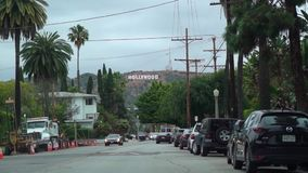 LOS ANGELES, DE V.S. - 9 MEI, 2019: Hollywoodteken stock videobeelden