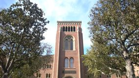 Campus of the University of Southern California. Los Angeles, DEC 2: Bovard Aministration, Auditorium of the University of Southern California on DEC 2, 2017 at stock footage
