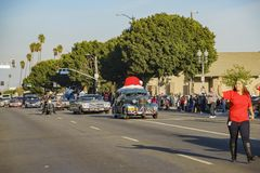 Highland Park christmas parade Royalty Free Stock Image