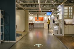 Interior view of the famous IKEA furniture stores. Los Angeles, DEC 28: Interior view of the famous IKEA furniture stores on DEC 28, 2017 at Los Angeles Stock Images