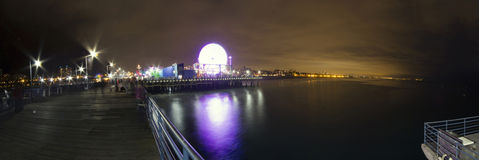 LOS ANGELES DECEMBER24th : Parc Pacifique en plage des angles de visibilité directe Photo stock