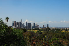 Los Angeles del centro dal parco dell'eliso III Fotografie Stock