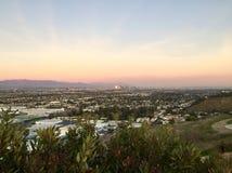 Los Angeles del centro veduta da Baldwin Hills Fotografie Stock Libere da Diritti