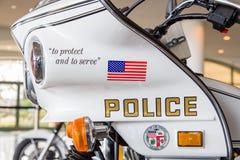 Los Angeles departament policji Motorcyle zdjęcia royalty free