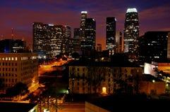 Los Angeles an der Dämmerung Stockfoto