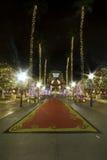 LOS ANGELES 24. Dezember: Universal Studios in Los-Winkeln leuchtet Stockfotos