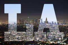 Los Angeles - dia e noite do LA fotos de stock royalty free