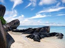 Los Angeles Digue, Seychelles wyspy Fotografia Royalty Free