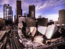 Los Angeles do centro e a sala de concertos de Disney imagens de stock royalty free