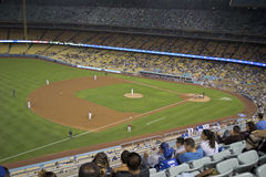 Los Angeles Dodgers. Los Angeles baseball stadium, California field with fans in the stands, full house Stock Photography