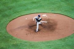 Los Angeles Dodgers Pitcher Kenta Maeda. Pitching at Sun Trust Field in Atlanta, GA Stock Image