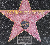 Los Angeles Dodgers' star on Hollywood Walk of Fame Royalty Free Stock Image