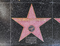 Los Angeles Dodgers' star on Hollywood Walk of Fame Royalty Free Stock Photos