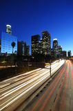 Los Angeles downtown. Skyline at night Stock Photography