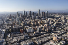 Los Angeles Downtown Architecture Aerial Royalty Free Stock Images