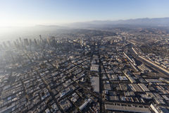 Los Angeles Downtown Arts District Aerial Royalty Free Stock Image
