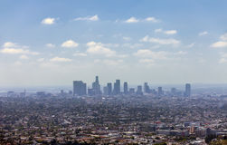 Los Angeles downtown, bird's eye view. At sunny day Royalty Free Stock Photography