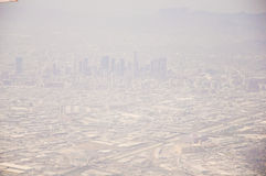 Los Angeles downtown, bird's eye view at sunny day Stock Photography
