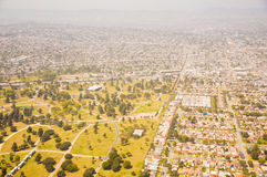 Los Angeles downtown, bird's eye view at sunny day Royalty Free Stock Photography