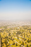 Los Angeles downtown, bird's eye view at sunny day Stock Photo