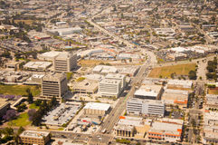 Los Angeles downtown, bird's eye view at sunny day Stock Photos