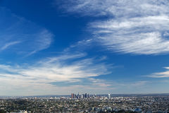 Los Angeles downtown, bird's eye view Royalty Free Stock Image