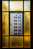 Los angeles Downtown. Los angeles California Downtown windows Stock Photos