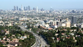 Los angeles downtown city time lapse stock footage