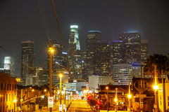 Los Angeles downtown cityscape Royalty Free Stock Photo