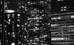 Los Angeles downtown at night Royalty Free Stock Images