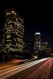 Los Angeles Downtown Night Motion Royalty Free Stock Images