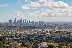 Free Los Angeles Downtown Skyline Royalty Free Stock Photography - 112545427