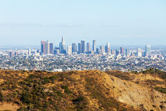 Los Angeles downtown skyline from the Hollywood Hills. LA, California, USA Royalty Free Stock Photo