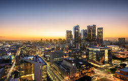 Los Angeles. Downtown Skyline at Sunset. Los Angeles, California, USA Stock Photography