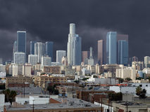Los Angeles Downtown Storm Royalty Free Stock Photo