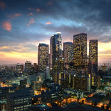 Los Angeles downtown at sunset, California Stock Photography