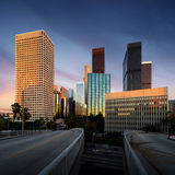 Los Angeles downtown at sunset, California Stock Image