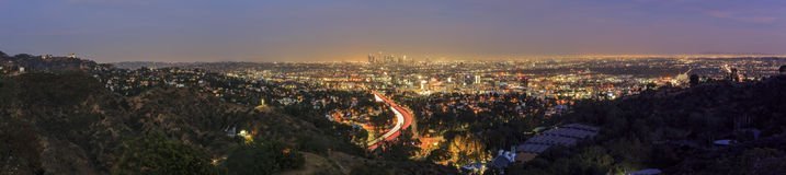 Los Angeles downtown view from top Royalty Free Stock Images